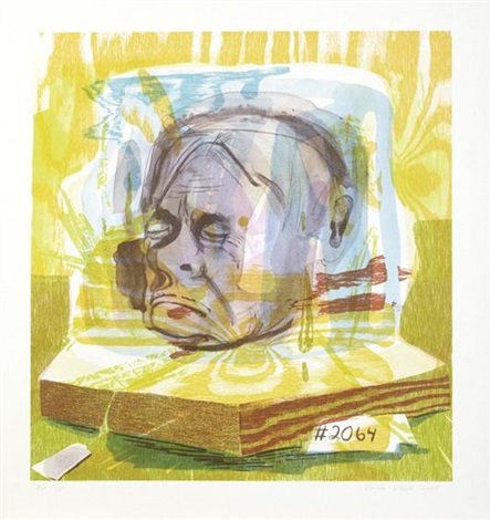untitled head of timothy leary by dana schutz