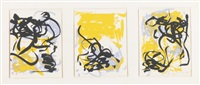 bedford ii, fields i, little weeds i (+ 5 others; 6 works from bedford) by joan mitchell