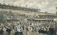 the lawn at flemington melbourne cup day by carl kahler