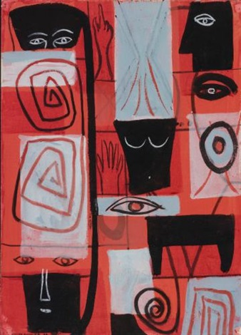 the watchers by adolph gottlieb
