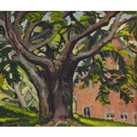the old tree, knowlton landing, p.q. by nora frances elisabeth collyer
