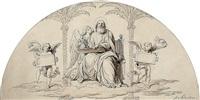 der evangelist matthäus, von engeln umgeben by august karl friedrich von kloeber