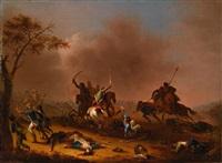 ein reitergefecht by jeremias august urlaub