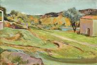 paysage de toscane by ferdinand henri maire