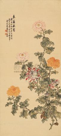 东篱秋影 flower by tang shishu
