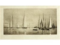 yachts at cowes by william lionel wyllie