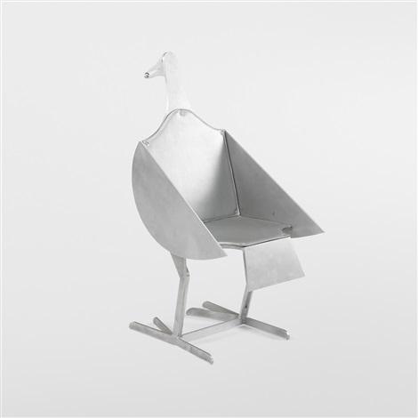 oiseau dargent chair by françois xavier lalanne
