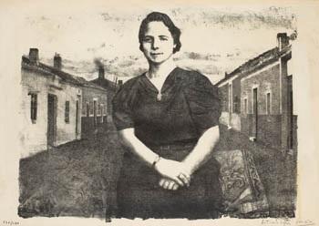 la madre del artista en tomelloso by antonio lópez garcía