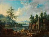 flusslandschaft mit ufergebäuden, ruinösem tor sowie reicher figurenstaffage by anonymous-dutch (17)