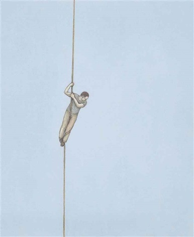 man on a rope by john davies