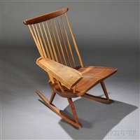single-arm rocking chair by george nakashima
