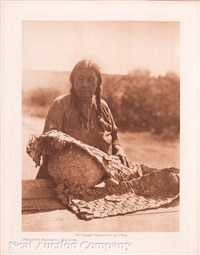 braided squash - wichita; jukuk nunivak; hooper bay man (3 works) by edward sheriff curtis
