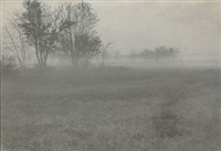 untitled, field in fog by william b. post