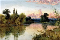 river landscape by e. lancaster hooper