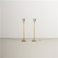 floor lamps (pair) by tommi parzinger
