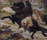 slavic count and a female captive by aleksandr yakovlevich golovin