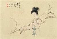 仕女赏梅 by ji kang