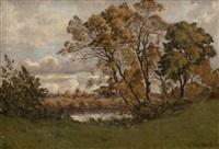 paysage by henri joseph harpignies
