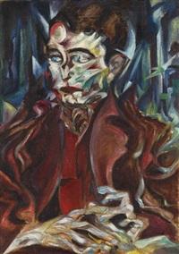 porträt (+ stillleben, verso) by otto rodewald