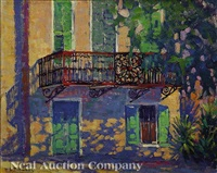 balcony on south battery, charleston, south carolina by dorothy stanley emmons
