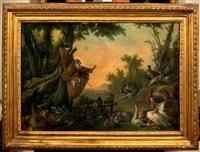 le prêche du singe franciscain à la basse-cour by alexis peyrotte
