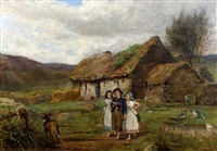 going to school - the crofter's children by carlton alfred smith