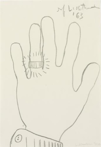 hand with ring by roy lichtenstein