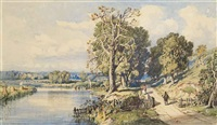 whitington, on the river wissey, norfolk by john joseph cotman