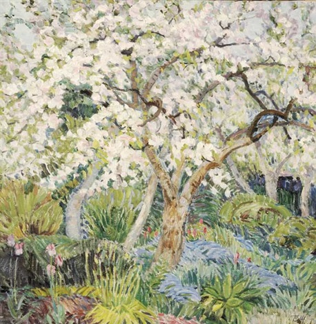cherry blossom by valeriana zholtok