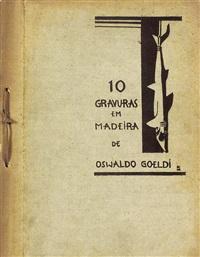10 gravuras em madeira de oswaldo goeldi (album w/12 works) by oswald goeldi