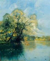 paysage lacustre by paul morizet
