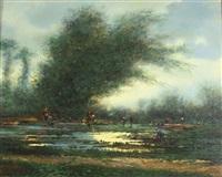 paysage de marais animé by marius zabin