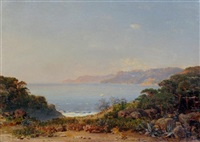 italian gulf - near gulf of spezia by otto reinhold jacobi
