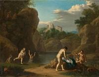 bathing nymphs, surprised by satyrs by daniel vertangen