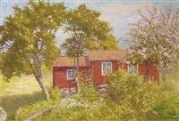 the red hut, grisslehamn, sweden by emil (harald emanuel) lindgren