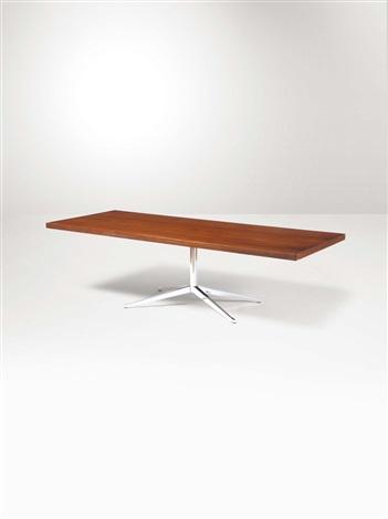 Tavolo con struttura in ferro cromato e piano in legno by Florence ...