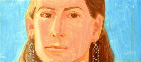 original painting liorah by alex katz