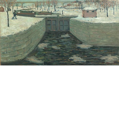 the lock new hope pennsylvania by ernest lawson