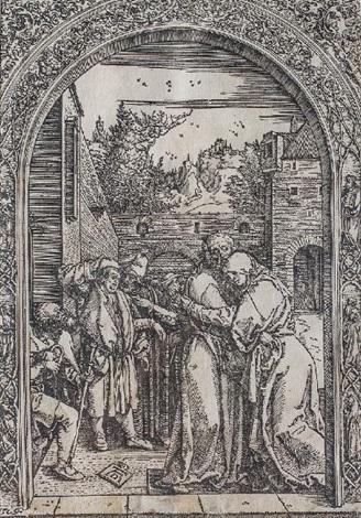 joachim et anne à la porte dorée by albrecht dürer
