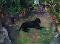 cane nel suo giardino by ettore fico