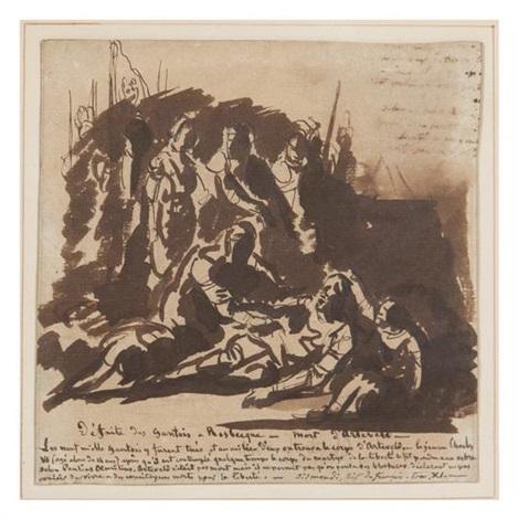 defaite des gantois a rosbecque morte dartevelt study by paul hippolyte delaroche