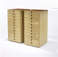 pair of 11-drawer cabinets by daven joy