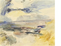 costal view (+ another; 2 works) by hercules brabazon brabazon