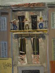 uomini al balcone by ottorino garosio