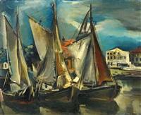 hafen mit segelbooten by rudolf jacobi