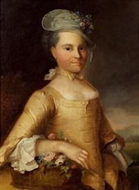 portrait einer jungen dame by joseph reinhart