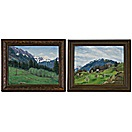mountain landscape (2 works) by helen huber