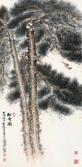 松寿图 (pine tree) by yu zhizhen and liu lishang