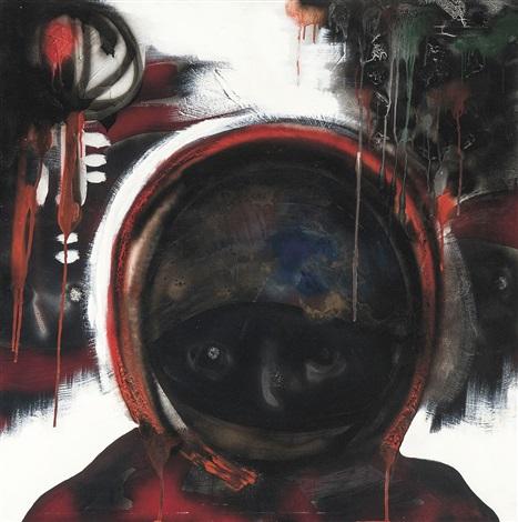 le cosmonaute au casque doré by paul van hoeydonck