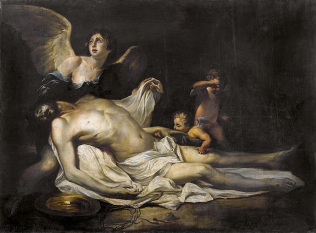 engel beweinen den leichnam christi by philippe de champaigne